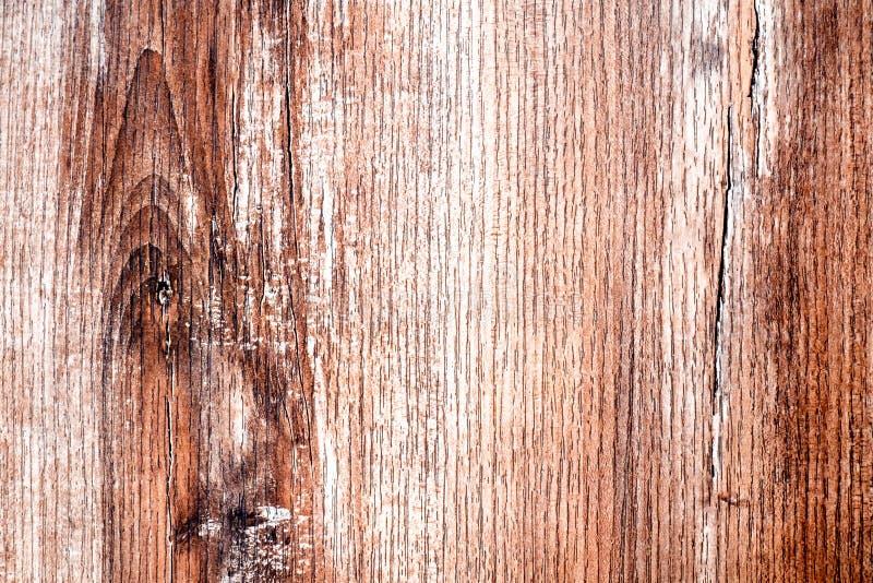 Houten Textuur, de Houten Achtergrond van de Plankkorrel, Bureau in Perspectief Dicht Omhooggaand, Gestreept Hout, Oude Lijst of  stock afbeelding
