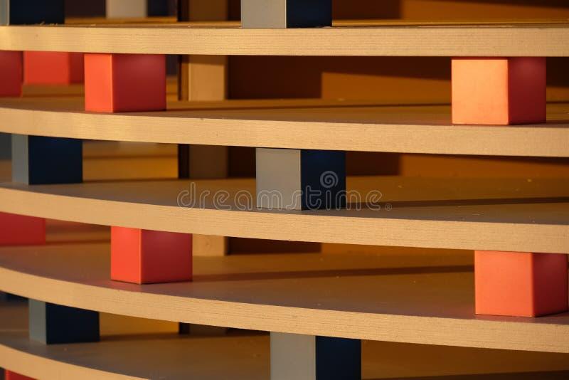 Houten textuur met kubussen royalty-vrije stock fotografie