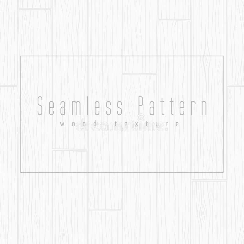 Houten textuur naadloze achtergrond Grijs vectorpatroon stock illustratie