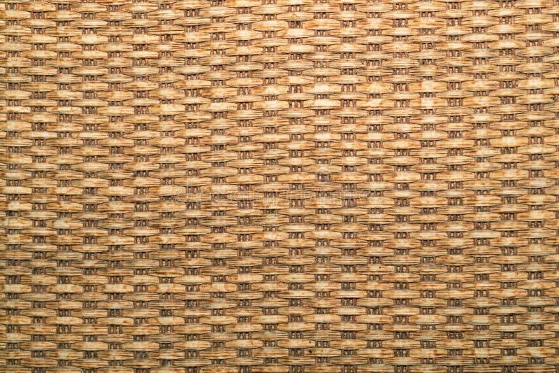 Houten textuur naadloze textuur van mandoppervlakte rieten stromand Het weefseltextuur van Handcraft stock afbeeldingen
