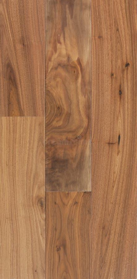 Houten textuur van vloer, okkernoot Amerikaans parket stock fotografie