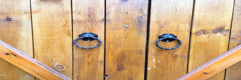 Houten textuurachtergrond, houten deurplanken De oude gewassen houten hoogste mening van het deurpatroon Sluit omhoog op oude hou royalty-vrije stock foto's