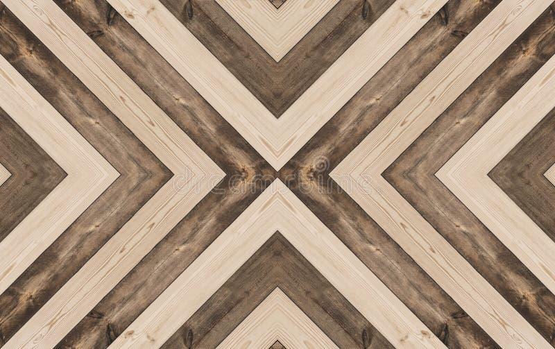 Houten textuurachtergrond, gestalte gegeven X, naadloos patroon stock foto