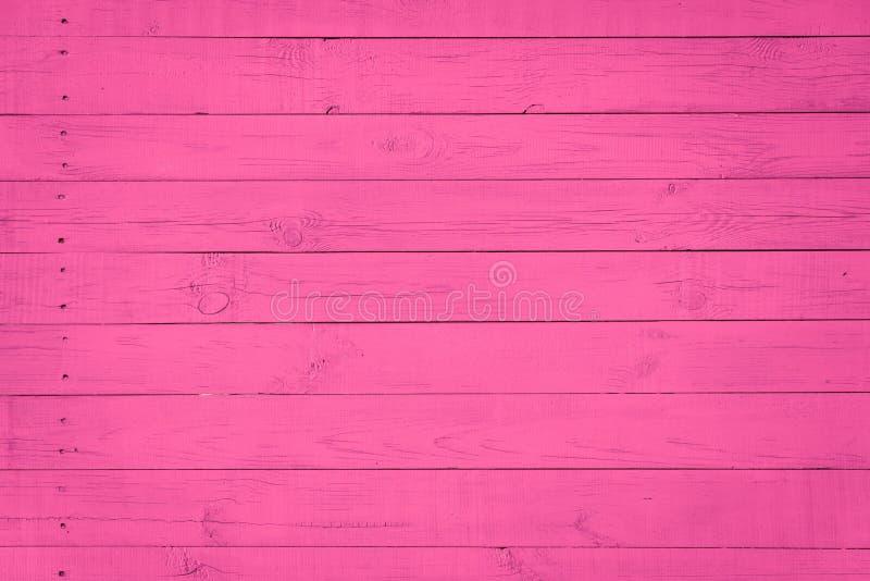 Houten Textuurachtergrond met natuurlijk patroon, purpere, roze kleur stock foto's