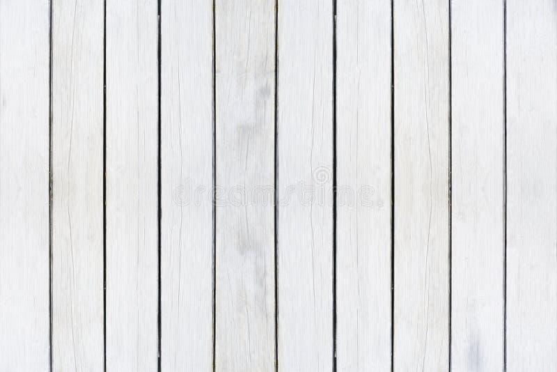 Houten textuurachtergrond, witte houten planken Grunge waste houten muurpatroon stock foto's