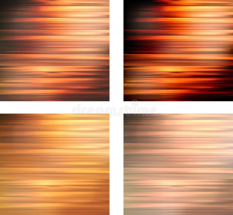 Houten textuurinzameling als achtergrond royalty-vrije illustratie