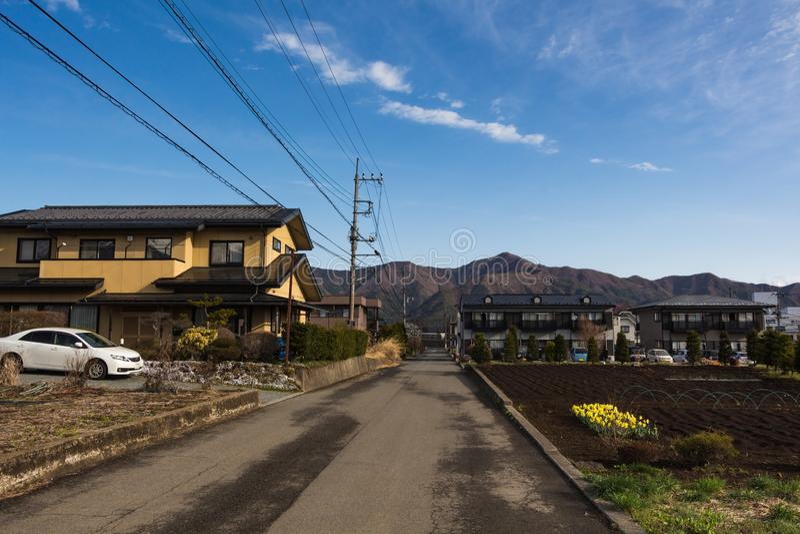 Houten traditioneel Japans stijlhuis stock afbeeldingen