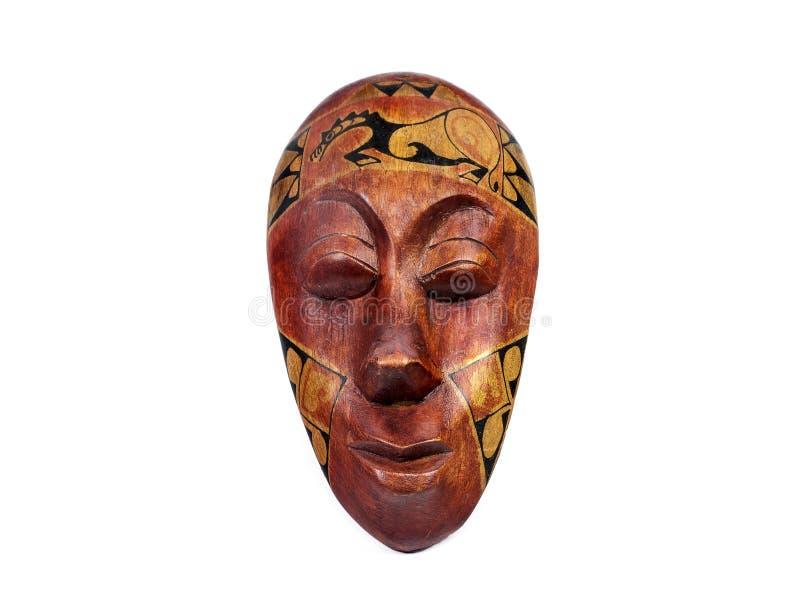 Houten traditioneel masker stock afbeeldingen