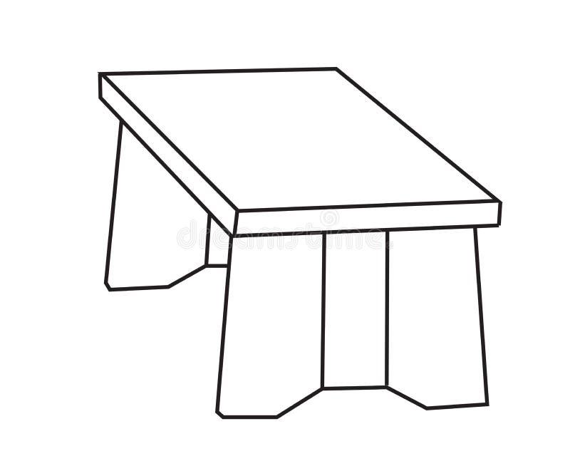 Houten tribune meubilair Vector stock illustratie
