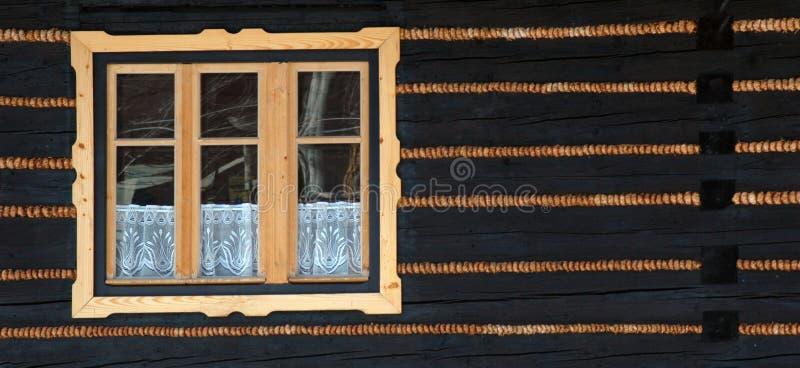 Houten venster #01 royalty-vrije stock afbeelding
