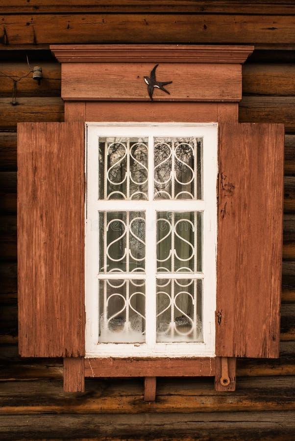 Houten venster 1 stock foto's