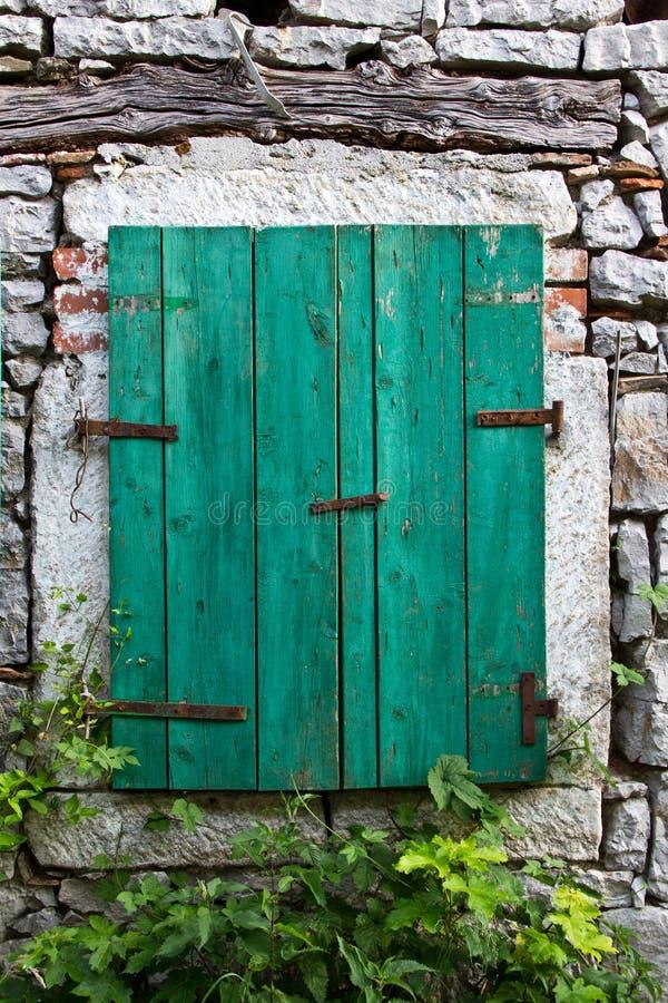 Houten venster stock fotografie