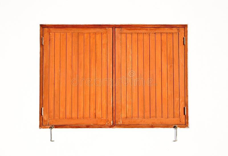 Houten vensters. royalty-vrije stock afbeelding