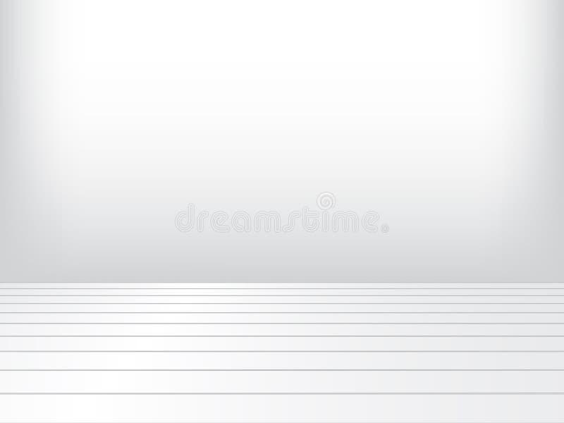 Houten vloer in witte ruimte stock illustratie