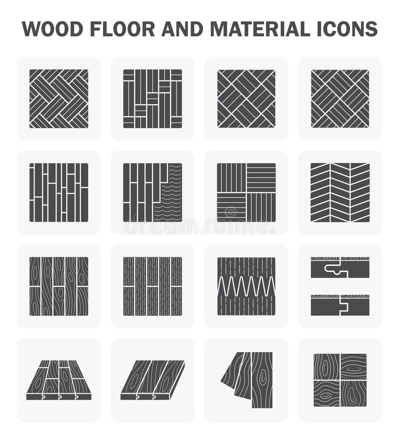 Houten vloerpictogrammen stock illustratie