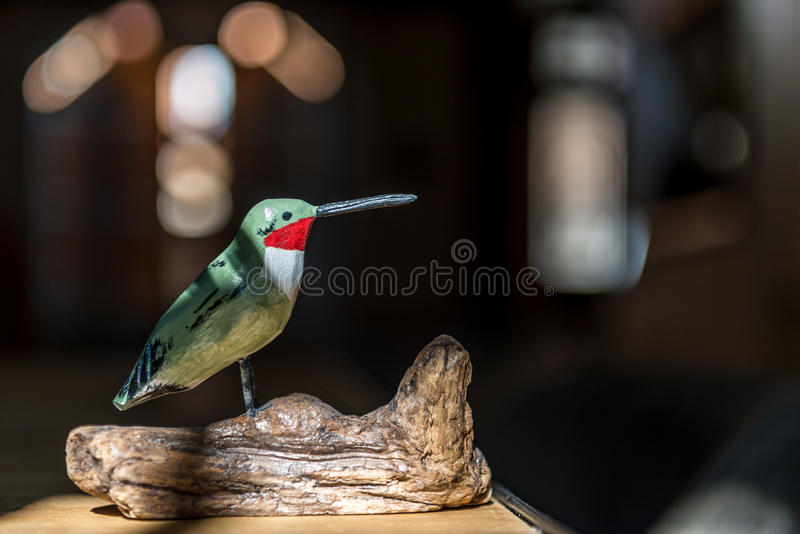 Houten vogel royalty-vrije stock foto's