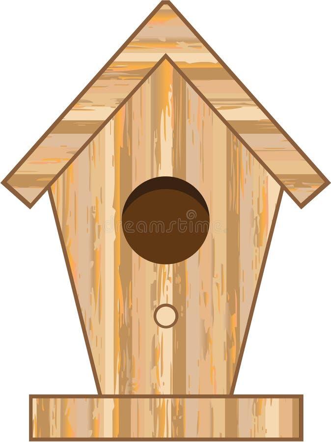 Houten Vogelhuisvector stock illustratie