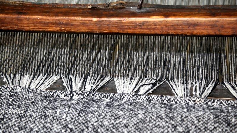 Houten weefgetouw voor de productie van de stoffen in oude tex royalty-vrije stock foto