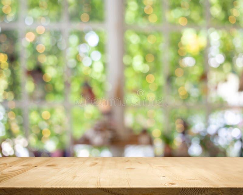 Houten witte de tuin bokeh achtergrond van de lijstbovenkant royalty-vrije stock afbeeldingen