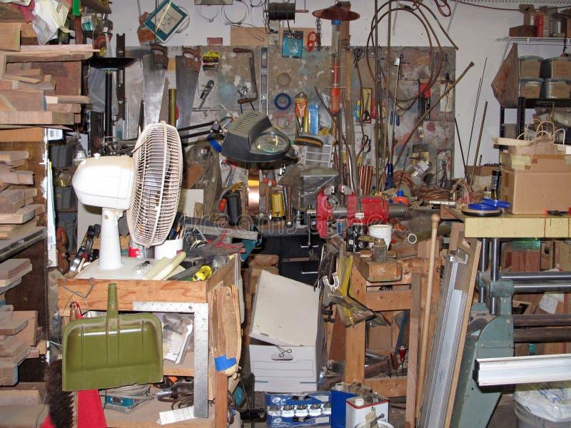 Houten workshop stock afbeelding