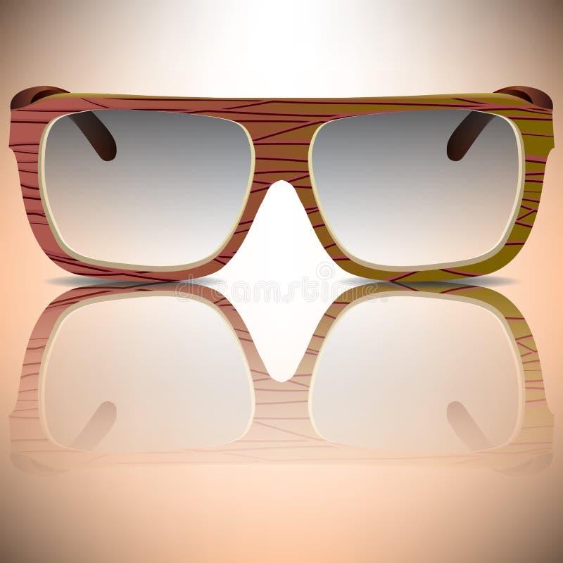 Houten zonnebril royalty-vrije stock fotografie