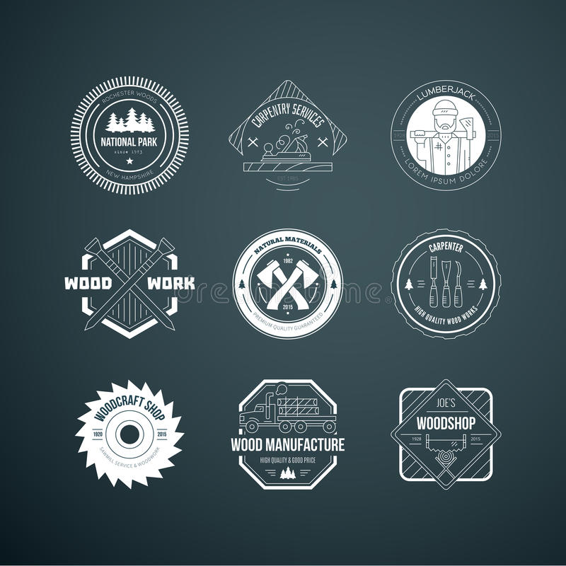 Houthakker Logos stock illustratie