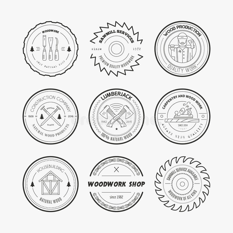 Houthakker Logos royalty-vrije illustratie