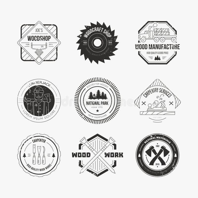 Houthakker Logos vector illustratie