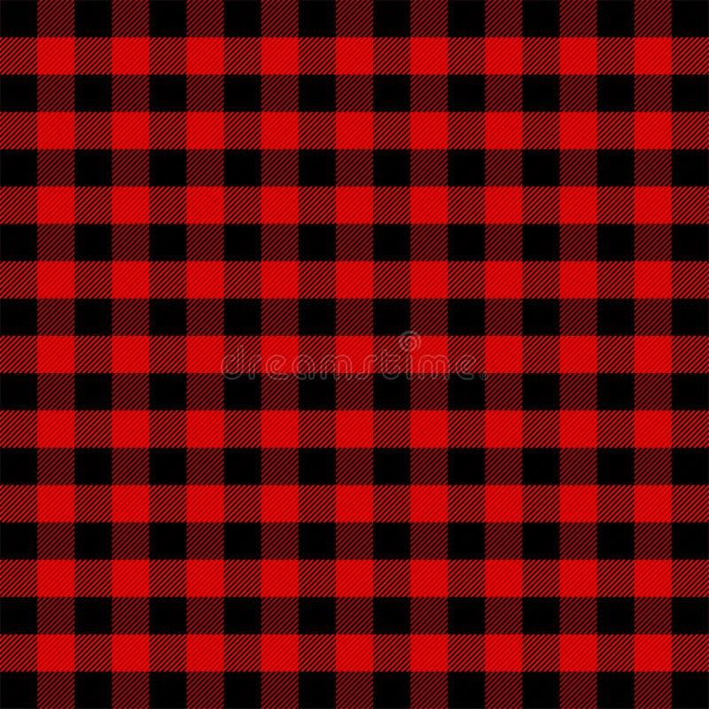 Houthakkersplaid Schotse kooiachtergrond stock illustratie