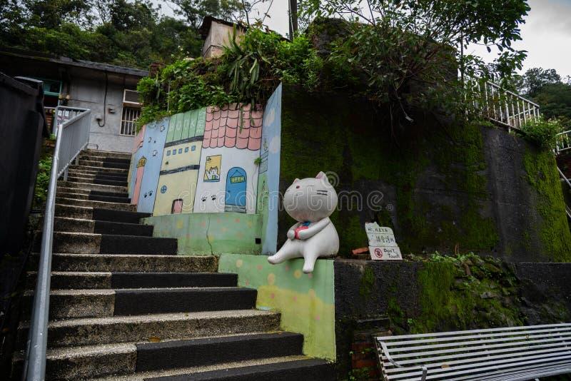 Houtong cat village. Taiwan famous cat population. stock photos