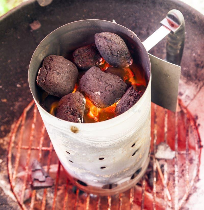 Houtskoolbrand stock fotografie