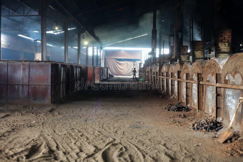 Houtskoolfabriek royalty-vrije stock foto's