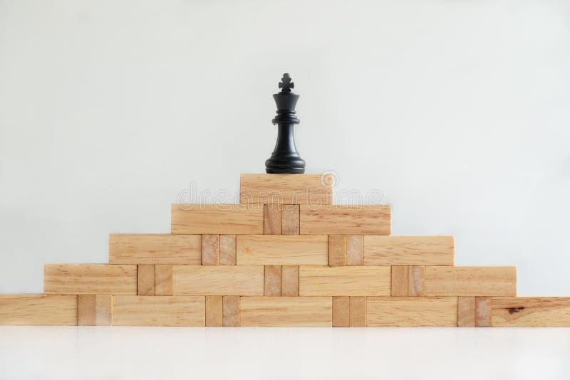 Houtsnedetoren met architectuurmodel, Conceptenrisico van beheer en strategieplan, de groei bedrijfssuccesproces en team royalty-vrije stock foto's