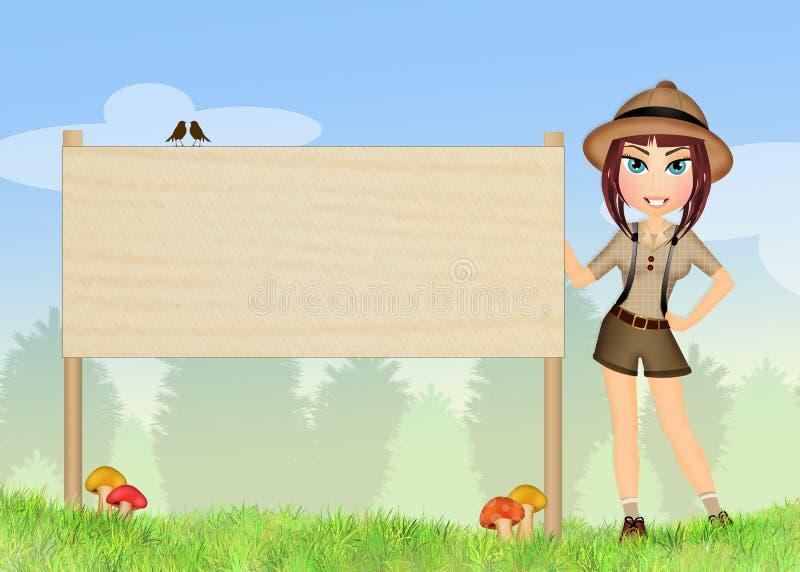 Houtvester in het aardpark vector illustratie