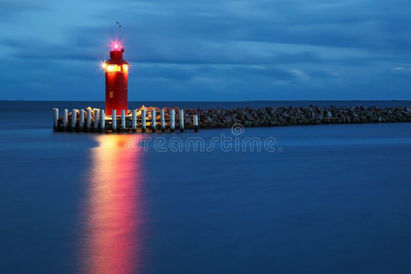 Houvuurtoren bij het blauwe uur, Denemarken royalty-vrije stock fotografie