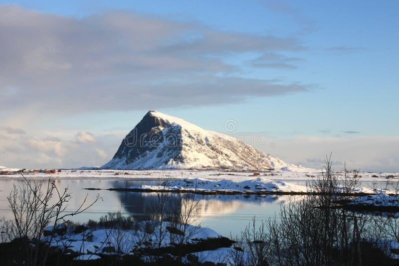 Hov, the Viking's holy mountain. Hov the holy mountain of the Viking's religion stock photo