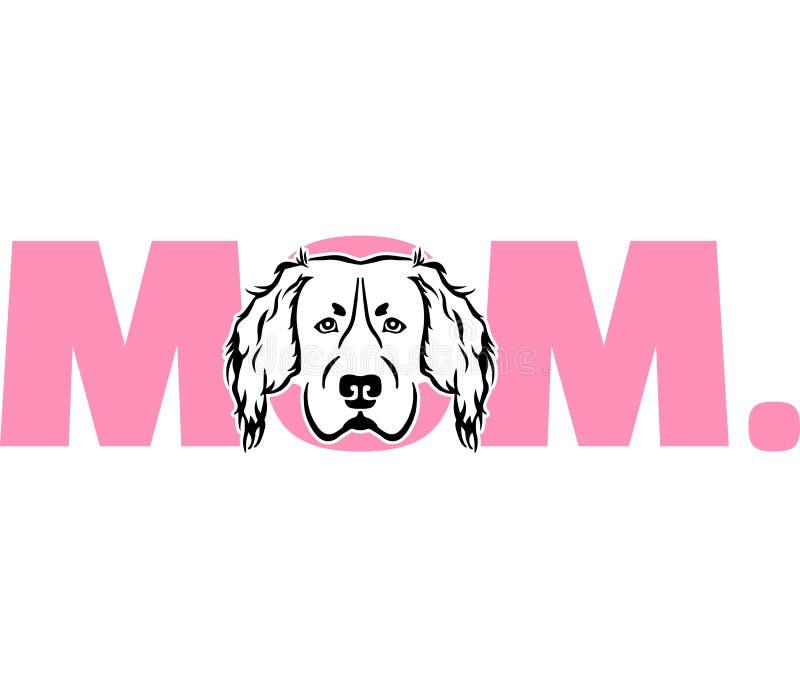 Hovawartmamma in roze vector illustratie