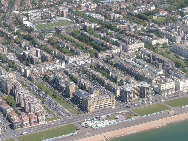 Hove Seafront. Sky view 2018 royalty free stock images