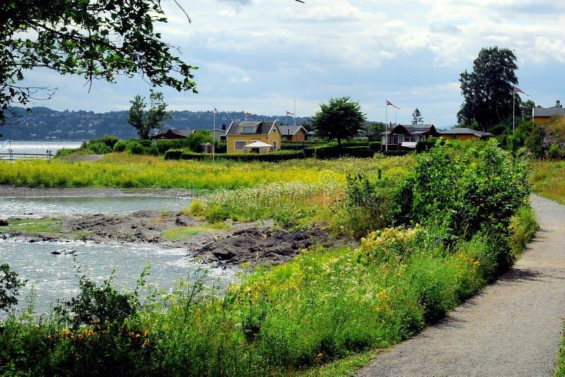 Hovedoya wyspa blisko Oslo, Norwegia obrazy stock