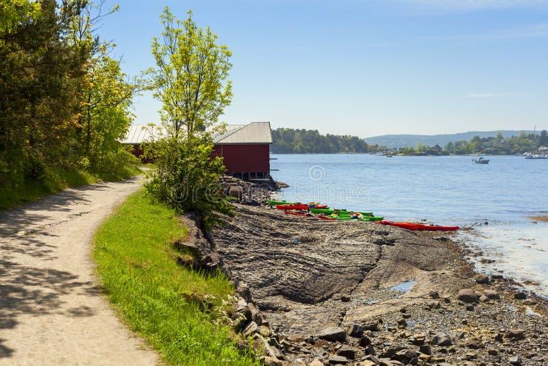 Hovedoyaeiland dichtbij de stad van Oslo royalty-vrije stock fotografie