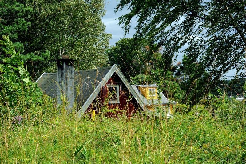Hovedoyaeiland dichtbij Oslo, Noorwegen royalty-vrije stock fotografie