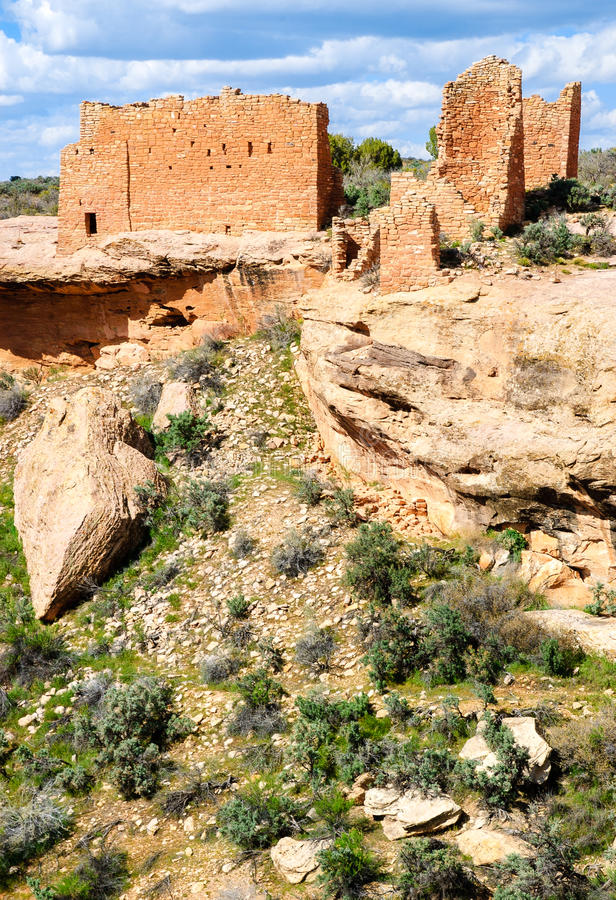 Hovenweep Nationalmonument royaltyfri foto