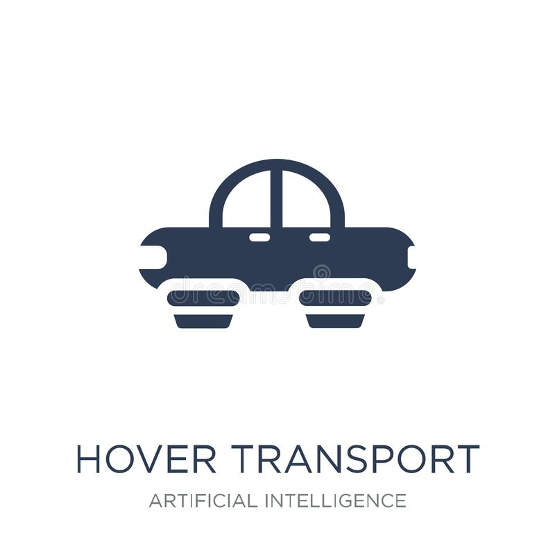 Hover transport icon. Trendy flat vector Hover transport icon on royalty free illustration