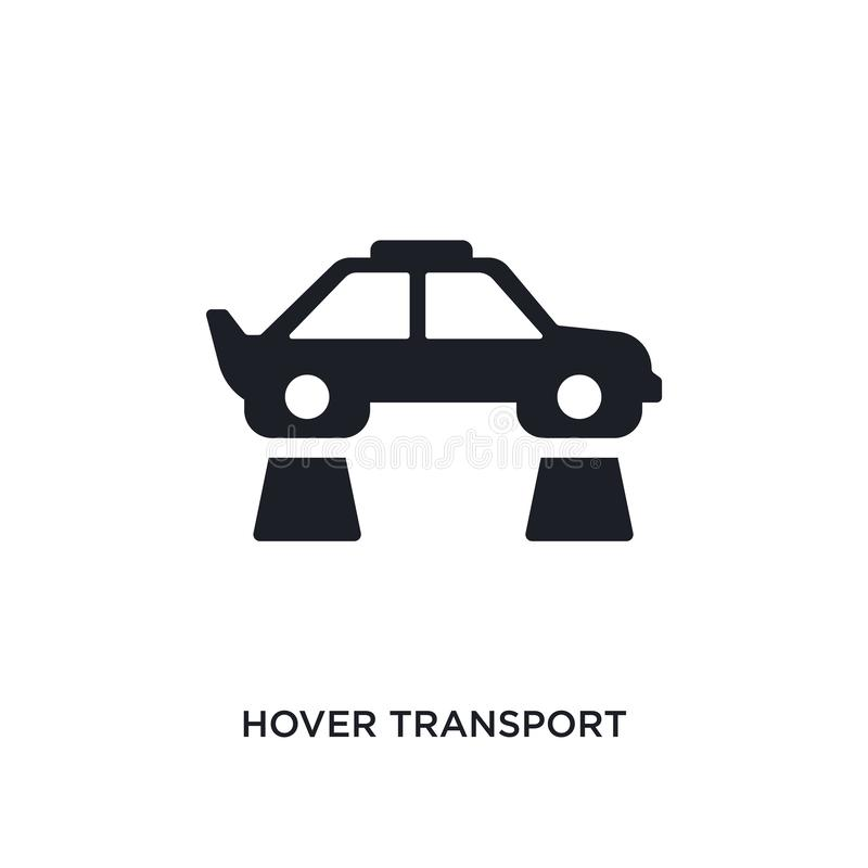 hover transport isolated icon. simple element illustration from artificial intellegence concept icons. hover transport editable vector illustration