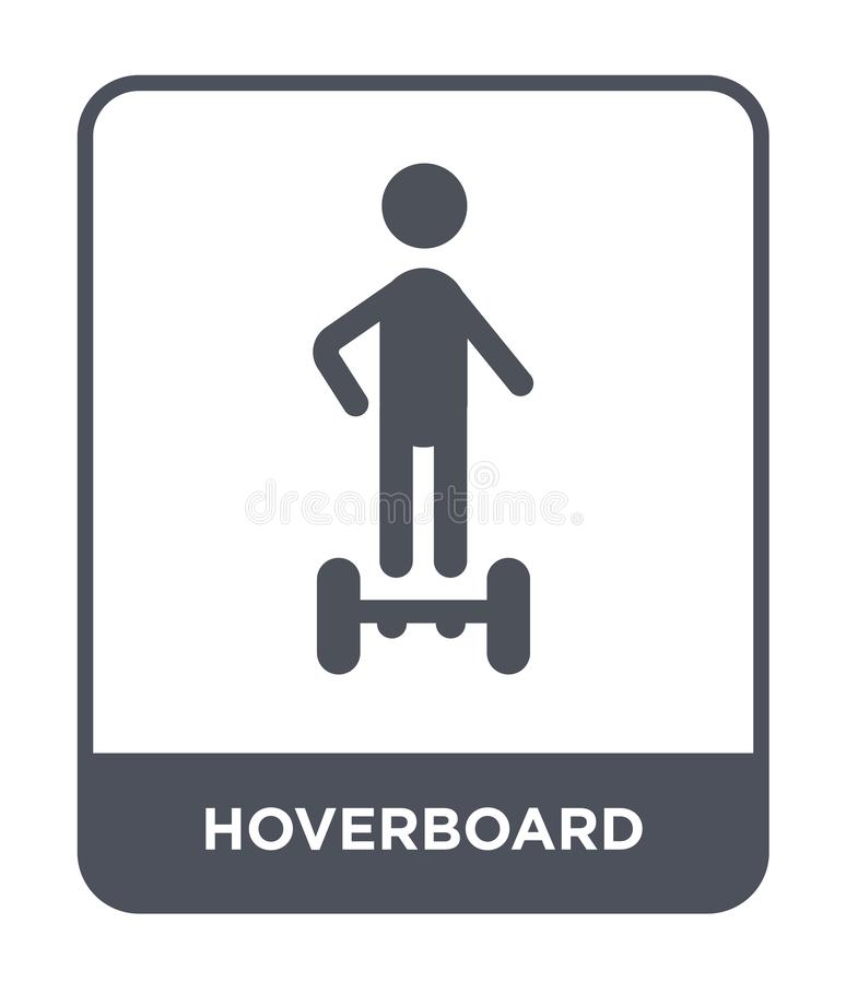 Hoverboard icon in trendy design style. hoverboard icon isolated on white background. hoverboard vector icon simple and modern. Flat symbol for web site, mobile royalty free illustration