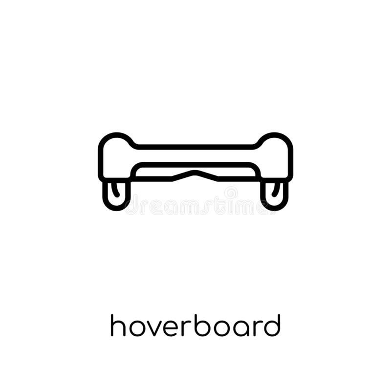 Hoverboard icon. Trendy modern flat linear vector Hoverboard icon on white background from thin line Electronic devices collection vector illustration