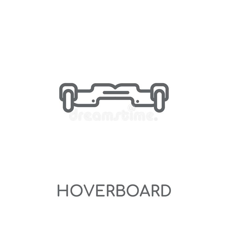 Hoverboard linear icon. Modern outline Hoverboard logo concept o royalty free illustration