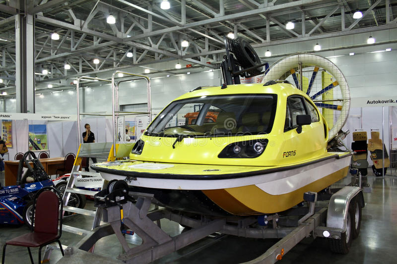 Hovercraft Aerojeep Fortis. MOSCOW - AUGUST 25: Hovercraft Aerojeep Fortis at the international exhibition of the auto and components industry, Interauto on stock photography