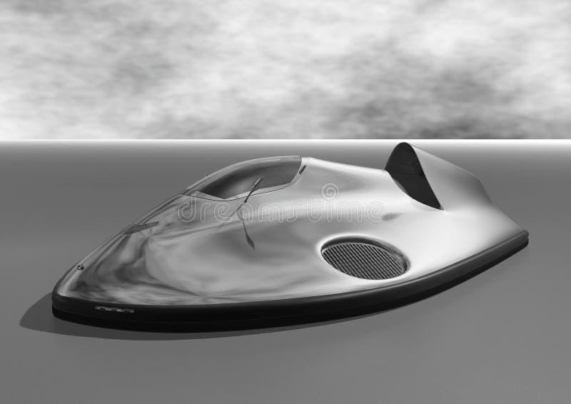 Hovercraft dell'automobile (in bianco e nero) immagini stock libere da diritti