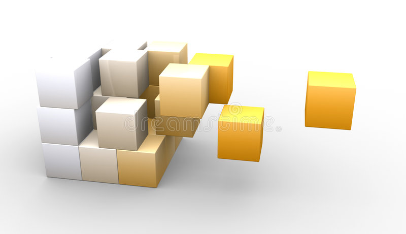 Download Hovering cubes stock illustration. Image of technology - 7691783
